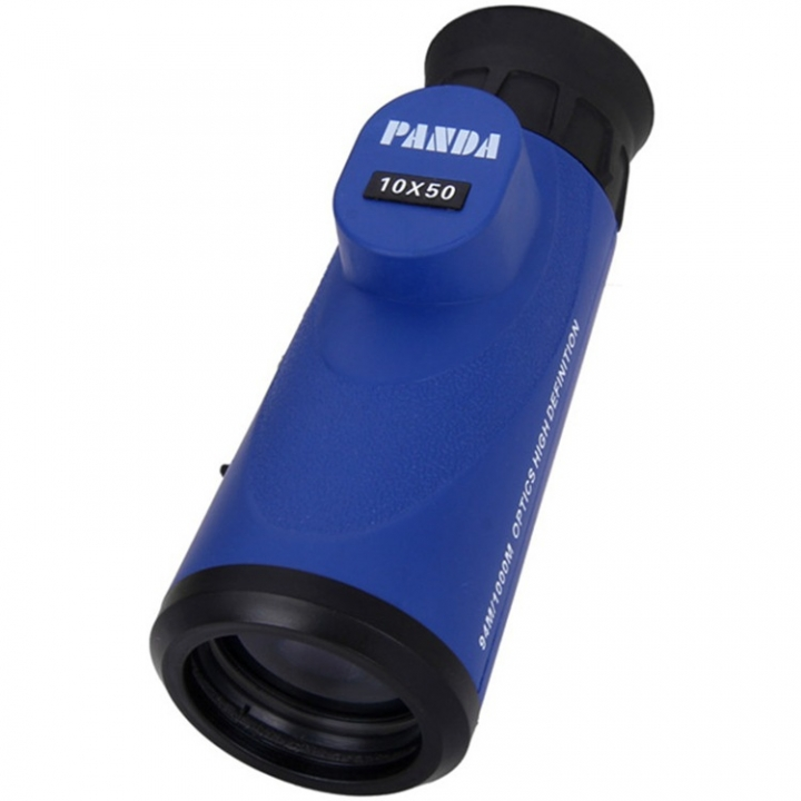 Outdoor Panda 10x50 Waterproof Single Cylinder Telescope Eyepiece High Definition Telescope blue