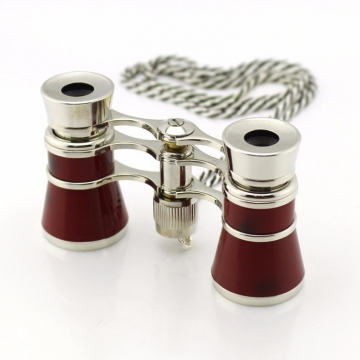 All Metal 3X25 Telescope Classical Gifts Opera Glasses Dame Telescope red