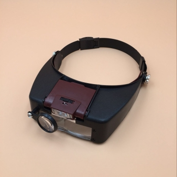 Head-mounted MG81007-A Multifunction Magnifier  With LED Light  Jobs Read Magnifier black