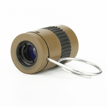 The New Mini Pocket Miniature Telescope 2.5X17.5mm Micro-type Finger Button Telescope Khaki