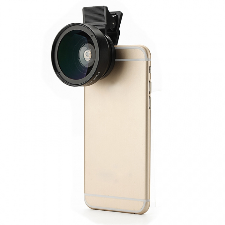 Phone Universal 0.45X Wide-angle Macro Combo Phone Profession SLR 52MM Wide-angle Lens black one size