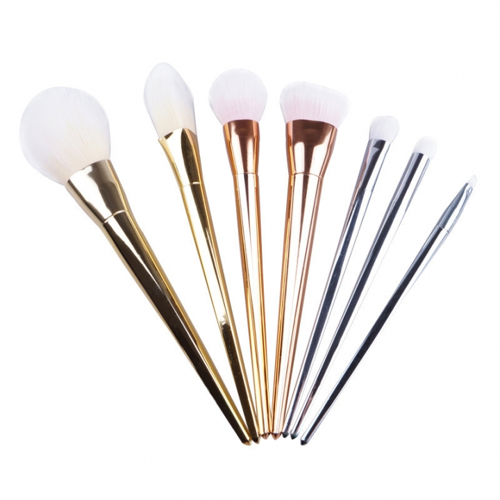 Ms Fashion Seven Color Electroplating Rod Makeup Brush Set Makeups Tool 7 colors