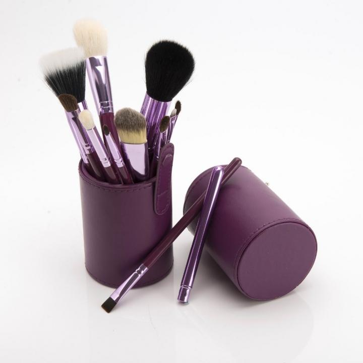 Ms Fashion 12 Makeup Brushes Makeups tool  Makeup Brush 12 Makeup Brushes Set Cylinder purple