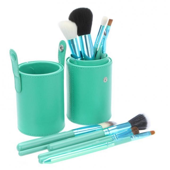Ms Fashion 12 Makeup Brushes Makeups tool  Makeup Brush 12 Makeup Brushes Set Cylinder green