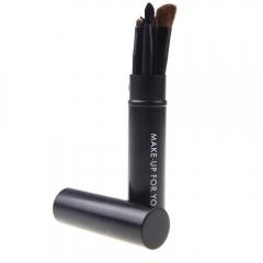 Ms Fashion Personality 5 Cylinder Makeup Brush set Metal Cylinder Set of Brush black