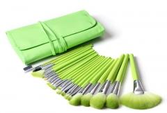 Ms Fashion 24 Green Makeup Brush Set High-end PU Brush Package Makeup Brush Tool green