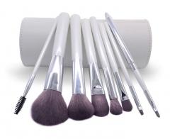 Ms Fashion 8 White Cylinder Brush Bamboo Fiber Hair Makeups Makeup Tools white