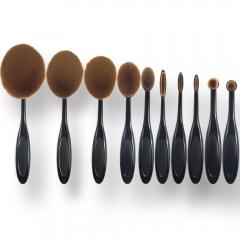Ms Fashion Makeup Tools 10 Toothbrush Models Makeup Brush Makeup Set black
