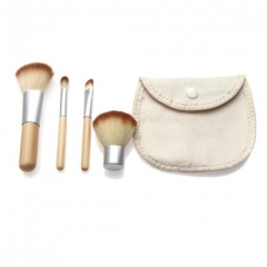 Ms Fashion Personality Makeup Tools Portable 4 Bamboo Makeup Brush Set 4 colors