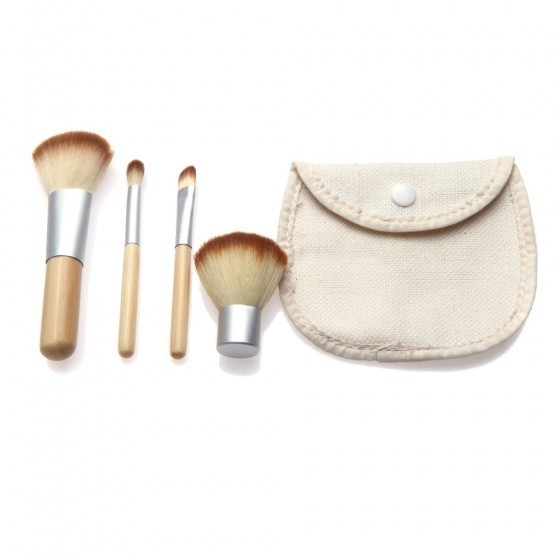 Ms Fashion Personality Makeup Tools Portable 4 Bamboo Makeup Brush Set 4 colors