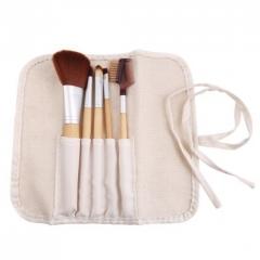 Ms Fashion Five Bamboo Makeup Brush Set Portable Models Makeup Tools white
