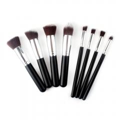 The New 8 sticks Black Handle Silver Tube Makeup Brush Set Ms Makeup Artist Makeup Tools black