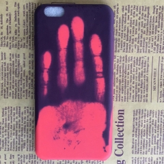 iphonex Phone Case Creative Personality Feeling Hot Discoloration Drop 7plus Protective Case purple one size