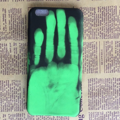 iphonex Phone Case Creative Personality Feeling Hot Discoloration Drop 7plus Protective Case green one size