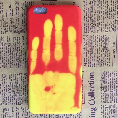 iphonex Phone Case Creative Personality Feeling Hot Discoloration Drop 7plus Protective Case yellow iphone7/8 plus