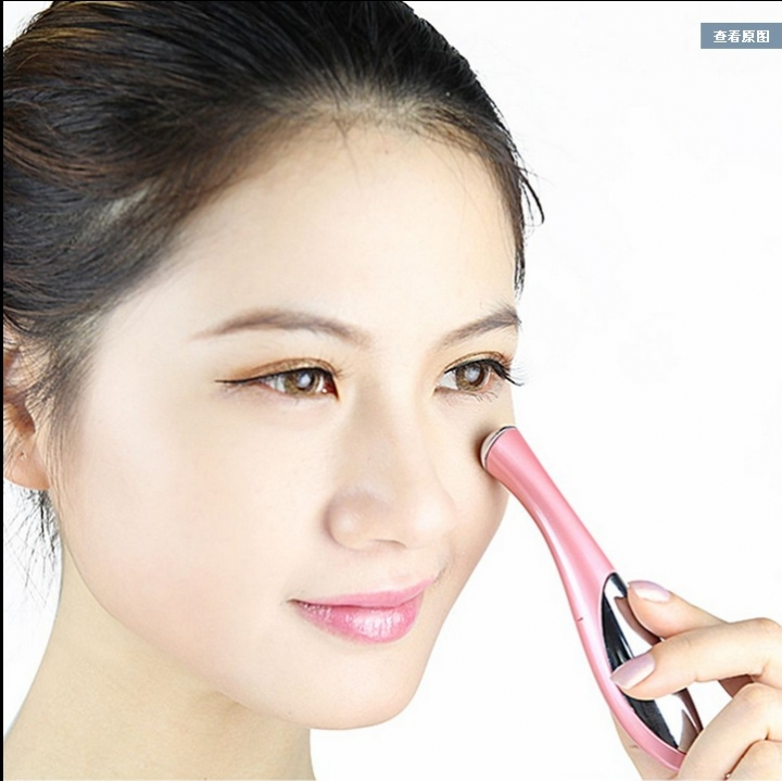 Ms Face Care Massager Eyes Wrinkle Removing Pen Electronic Eye Instrument Vibration Beauty Pen pink
