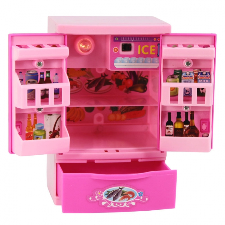 Child Going Home Toy Set Girl toy Simulation Mini Refrigerator Home Appliances 7 one size