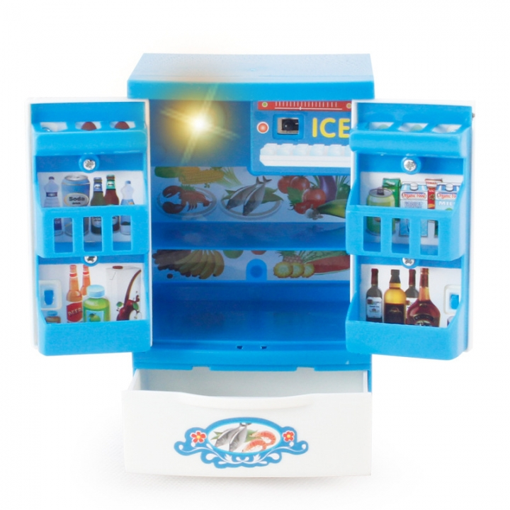 Blue Appliances Child Mini Going Home toy Simulation Appliances Electric Function 7 one size