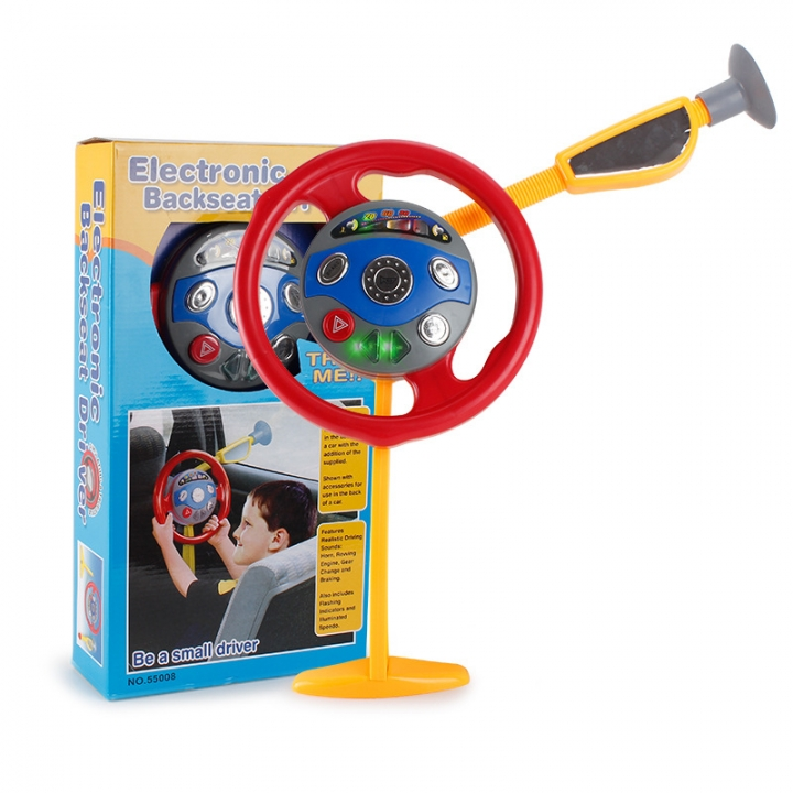 Going Home Toy Simulation Child Multifunction Steering Wheel Light Music Toy 1 one size