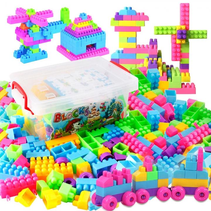 Child 85 Tablets Variety Building Blocks Fight Interpolation Desktop Brain Game Odorless colour one size