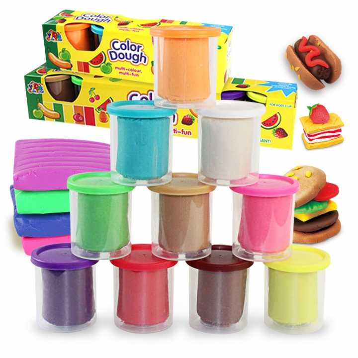 Child DIY Creative Choi Clay 10 Colors Plasticine Environmental Safety Puzzle Taste Toy 10 colour one size