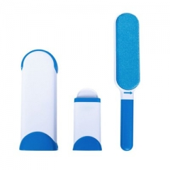Portable Hurricane Fur Wizard Pet Hair Lint Remover tissu magique tissu brosse taille de voyage white blue