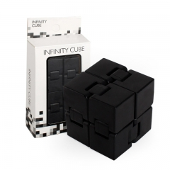 Unlimited Stress Reliever Rubik's Cube INFINITE CUBE Rubik's Cube Toy Unzip Artifact Unlimited Box black one size