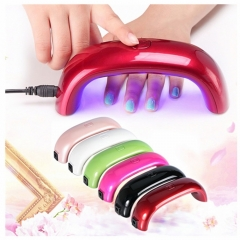 Fashion Women USB LED Lamp Light for Nail Dryer Nail Art Tools Mini UV Light Nail Dryer white