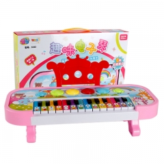 Multifunction Baby Piano Girl Simulation 6 Kinds of Modes Keyboard Child Music Toy pink one size