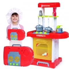 Child Going Home Kitchen toy Cook Simulation Going Home Toy Baby Kitchenware Set red one size