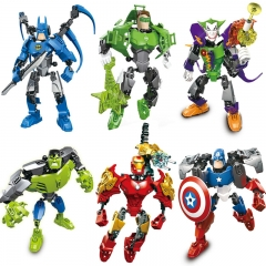 Child The Avengers Deformation Fit Building Blocks toy Super Hero iron Man Batman Captain America 6 one size