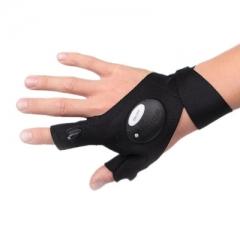 Led Movement Gloves Car Repair Flashlight  Fishing Spotlights Outdoor Repair Artifact black one size 9w