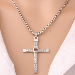 Western Style Toledo Speed And Passion 88 Pendant Classic Cross Personality Necklace gold one size one size