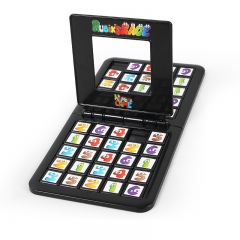 Parent-child Interactive Child Early Education Color Digital Battle Rubik's Cube Brain Game black one size