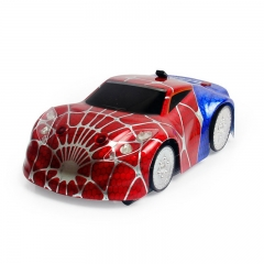 Spiderman Electric Remote Control car Climbing Car Wireless Steering Wheel Remote Control Toy red one size