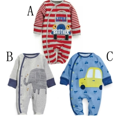 Western Style Trend Baby Long Sleeves Baby Car Romper Siamese Clothing Printing Clothing a 80 yards