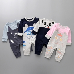 Long Sleeves Baby Lovely Panda Clothing Romper Jumpsuit Child Fashion Climb Clothes a 80 yards