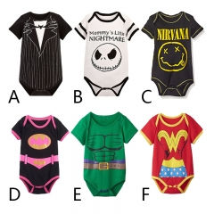 Western Style Short Sleeve Triangle Romper Baby Cotton Climb Clothes Jumpsuit Children's Wear a 80 yards