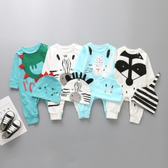 Baby Fashion Clothing Printing Romper Long Sleeves Cotton Jumpsuit Clothing a 80 yards