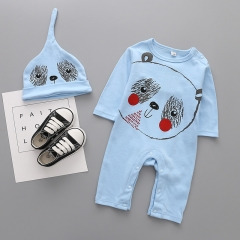 Cotton Long Sleeves Baby Fashion Romper Jumpsuit Climb Clothes hat Panda Set Clothing a 80 yards