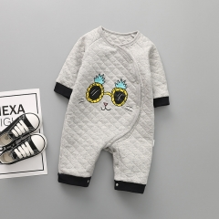 Baby Fashion Clothing Romper Long Sleeves Thickening Cotton Siamese Clothing Apparel a 80 yards