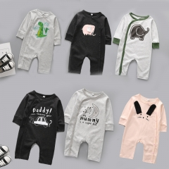 Western Style Fashion Baby Romper Climb Clothes Cotton Long Sleeves Siamese Clothing a 80 yards