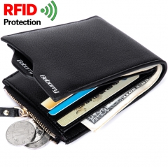 Men Anti-magnetic shot The New Wallet Card Package Student Fashion Short Paragraph Wallet black one size