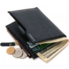 Men Fashion Classic Business Wallet Personality The New Zipper Wallet 2 one size