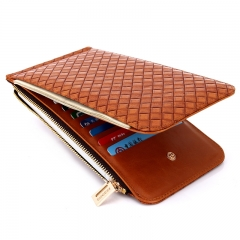 The New Personality Fashion Wallet Card Package Ms pu Long Section Wallet orange one size