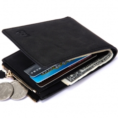 Men Coin Bags Fashion Wallet College Wind Personality Student Wallet black one size
