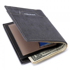 Creative Men Cowhide The New Wallet Card Package Short Paragraph Fashion Trend Wallet black one size
