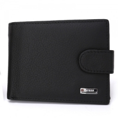 Men The New Wallet Card Package Short Paragraph Genuine Leather Business Fashion Wallet black one size