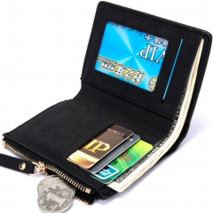 Men Trend Coin Bags Wallet Fashion Business Personality Student Wallet black one size