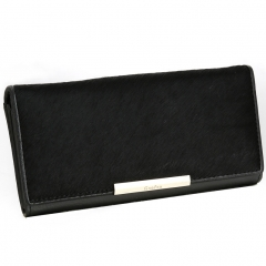 Fashion Long Section Genuine Leather Ms Wallet Clutch Female Models Trend Clutch Bag black one size